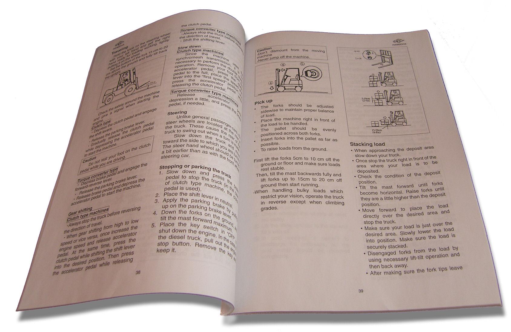 Instrukcja obsługi wózka widłowego